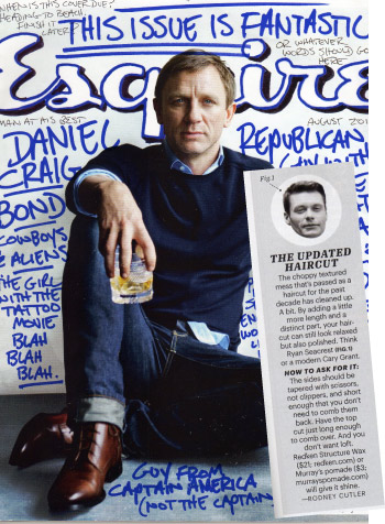Esquire cover, August 2011